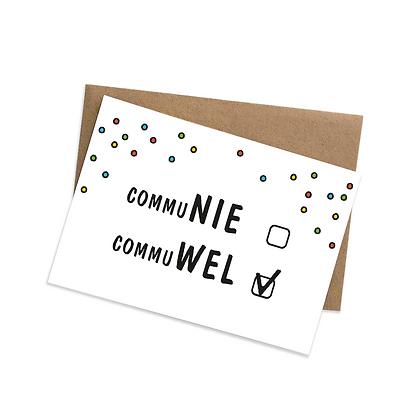 Communie, commuwel - wenskaart