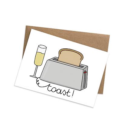 Toast - wenskaart