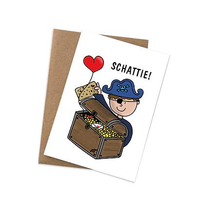 Schattie - wenskaart