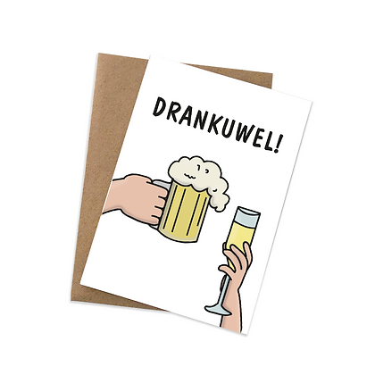 Drankuwel - wenskaart