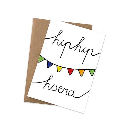 Hip hip hoera - wenskaart