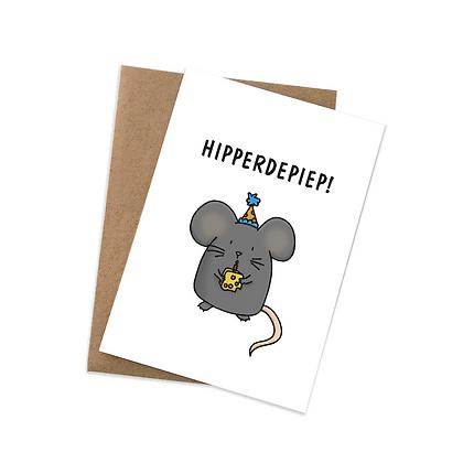 Hipperdepiep - wenskaart