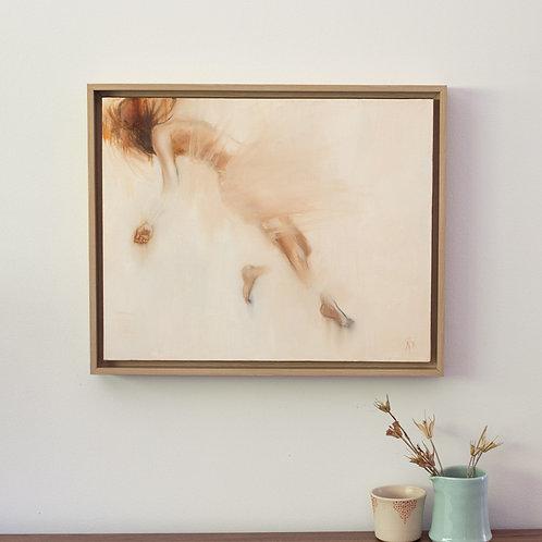 """Weightless"" original figurative oil painting - Framed"