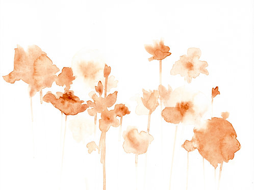 """""""Ends And Beginnings 01"""" : 10""""x8"""" original floral watercolor painting"""