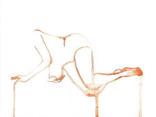 """Breathe"" : 10""x8"" original figurative watercolor painting"
