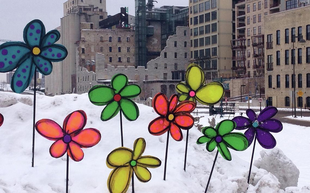 """""""The Flower Bomber"""" David Cook, Artist from the Twin Cities Metro Area"""