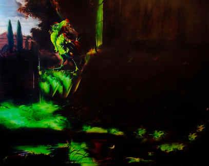 Neon Documentation Bruce Nauman Five Words in Green Neon