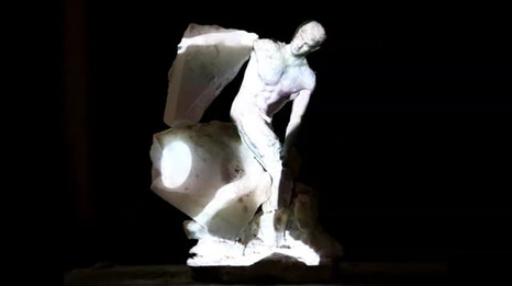 Animation on 3D print and alabaster