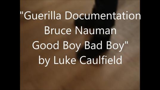 'Guerilla Documentation Bruce Nauman Good Boy Bad Boy'