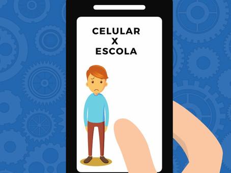 O excesso de uso do celular prejudica negativamente na Escola!
