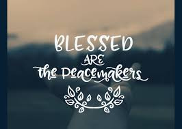 Blessed are the peacemakers ... for they shall not experience the wrath of God.