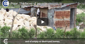 Pope: The faces of poverty and of empty or destroyed homes