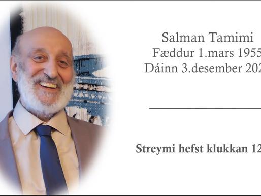 Upplýsingar varðandi jarðarför Salmans Tamimi