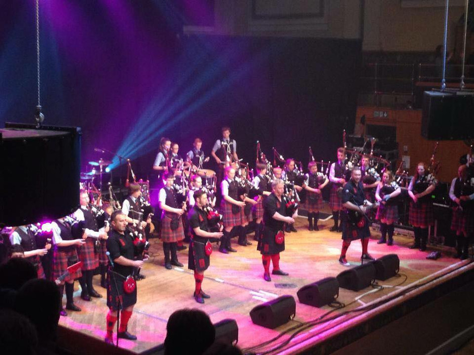Playing with the Red Hot Chilli Pipers at Aberdeen Music Hall 2014