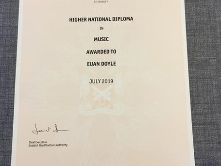 HND Music Certificate 2019