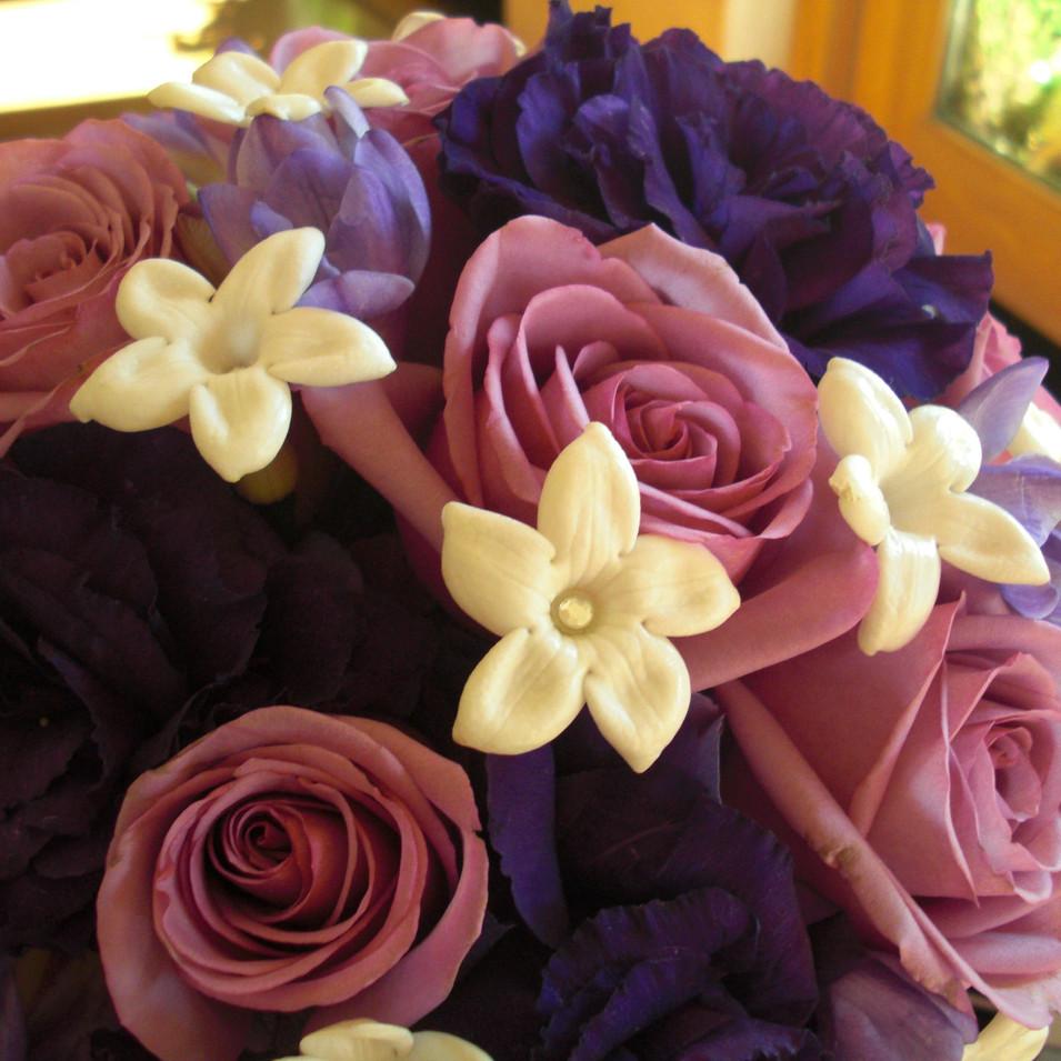 Wedding Bouquet in Purples