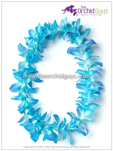 Lei Single (Dyed Blue Missteen)