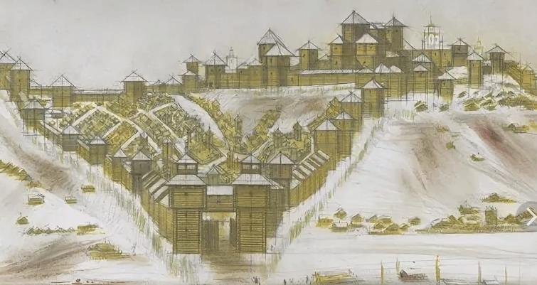 Владимирская деревянная крепость. Реконструкция Сергея Васильевича Ермолина