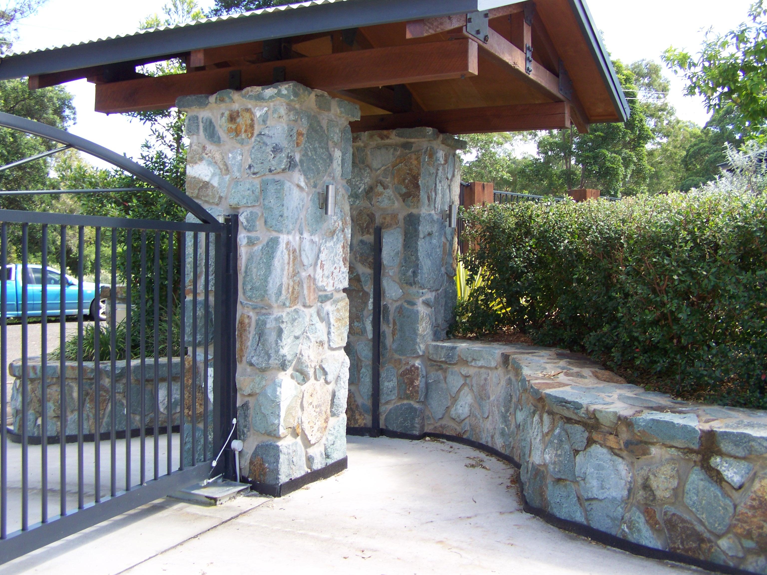Basalt Stone Entrance