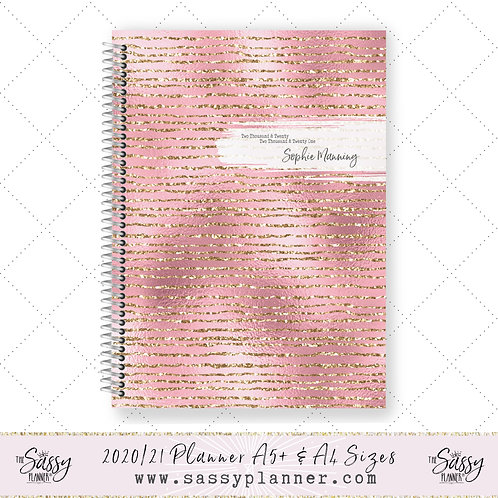 2020/2021 Academic Planner (Glitter Pink Cover)
