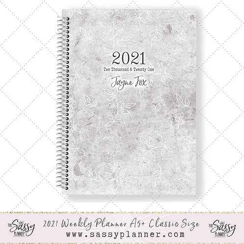 2021 Planner (Grey Floral Cover)