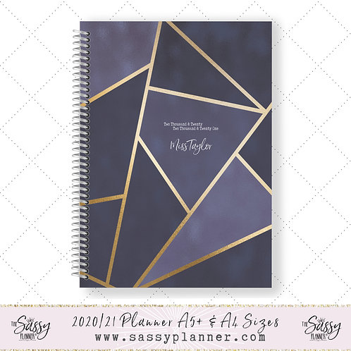 2020/2021 Academic Planner (Navy Gold Cover)