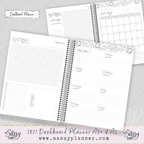 2021 A4 Size 'Neutral' Dashboard Planner