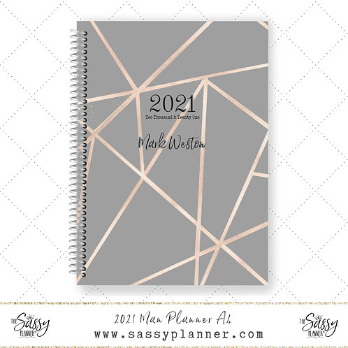 A4 2021 Man Planner (Geo Cover)