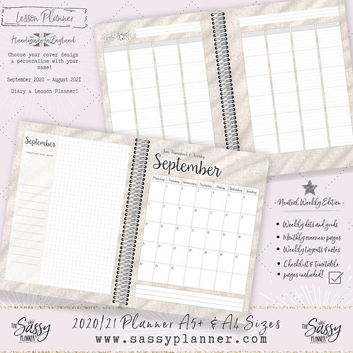 2020/2021 A4 Size Lesson Planner