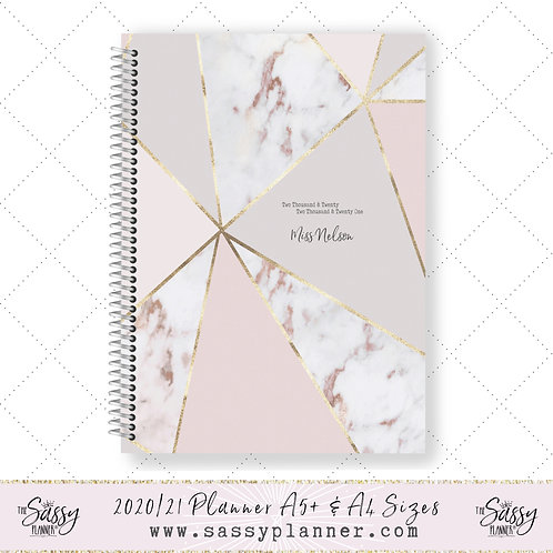 2020/2021 Academic Planner (Rose Gold Marble Cover)