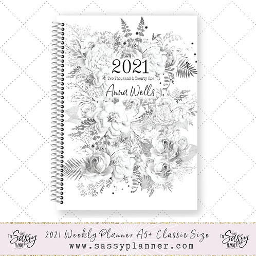 2021 Planner (Silver Roses Cover)