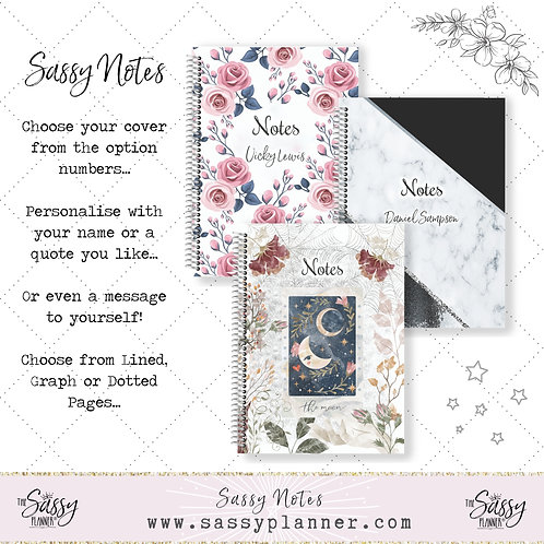 Sassy Notes - Personalised Notebook
