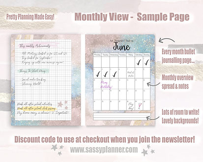 Monthly View The Sassy Planner