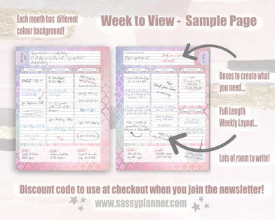 Week to view layout