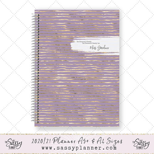 2020/2021 Academic Planner (Glitter Lilac Cover)