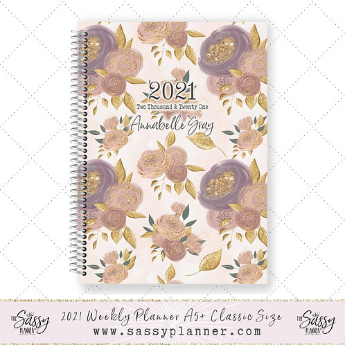 2021 Planner (Gold Peony Cover)