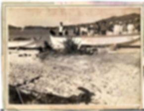 Pescadores na praia de Bombas, 1940.