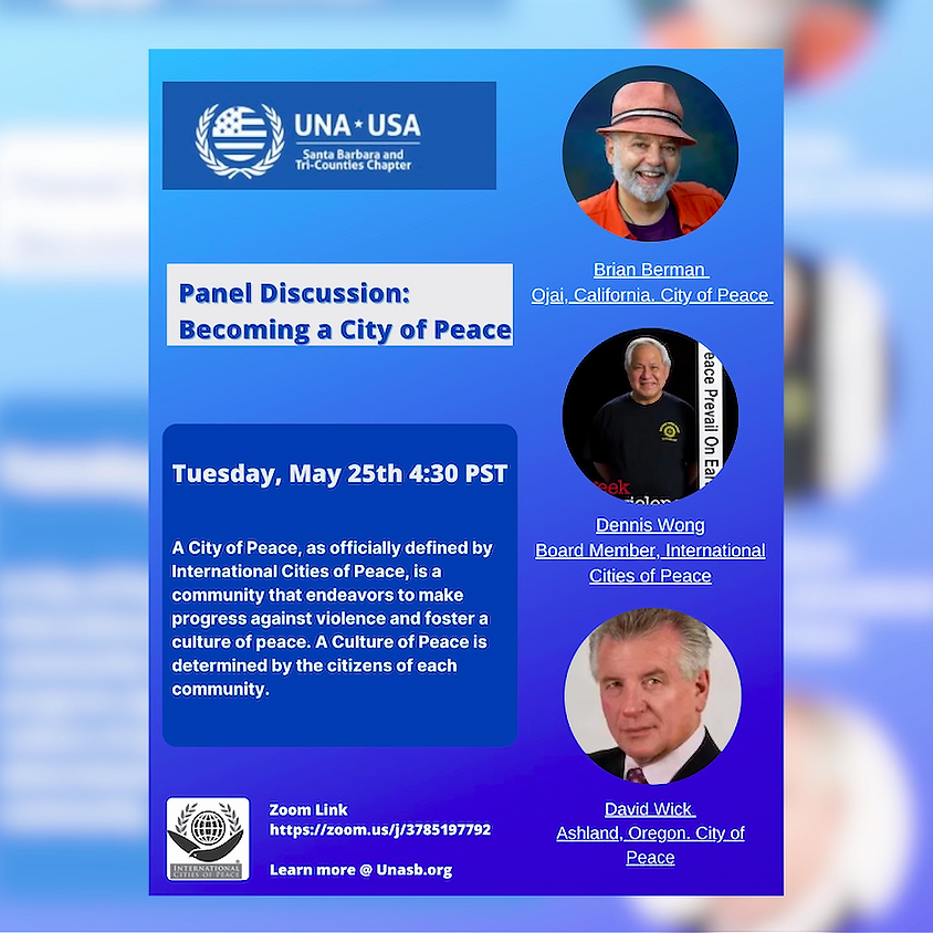 Panel Discussion: Becoming a City Of Peace