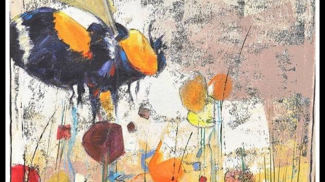 """Bee pollinated "" by Ogunnusi Dolapo"