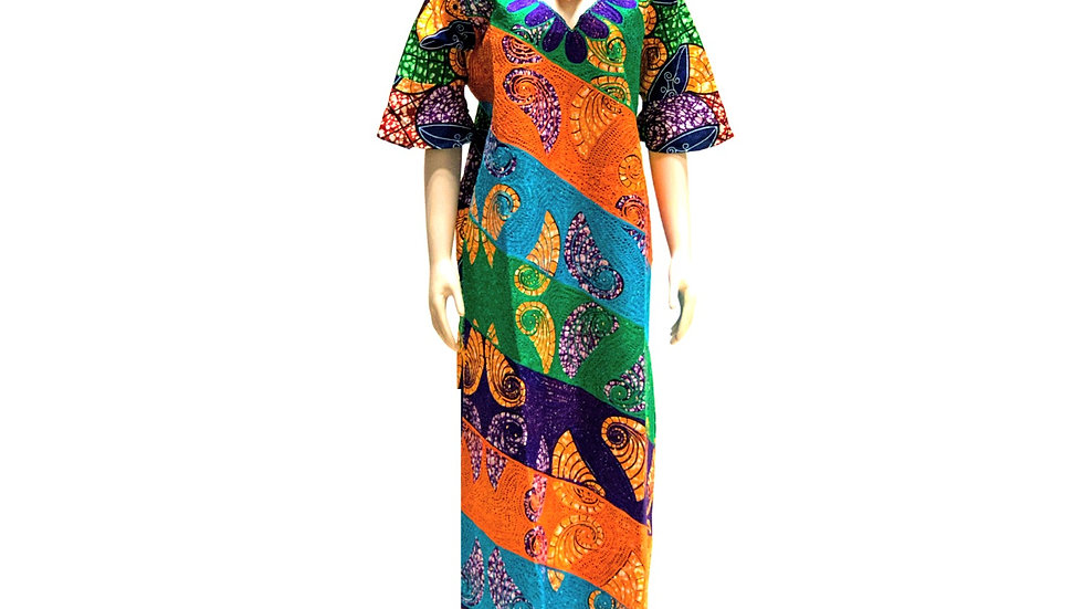 African Ankara embroidery/stone