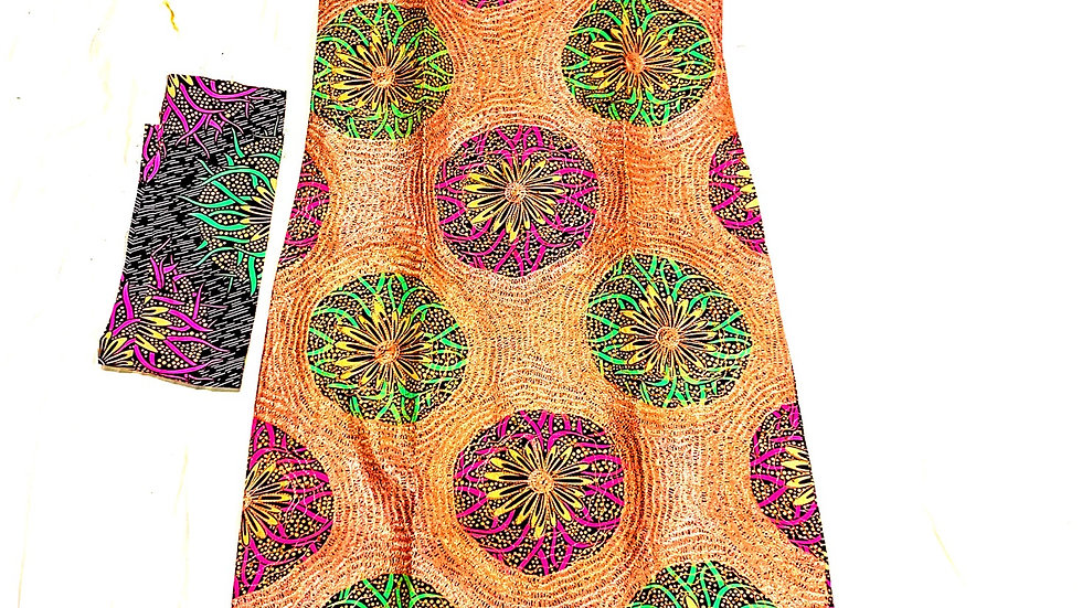 African ankara embroidery