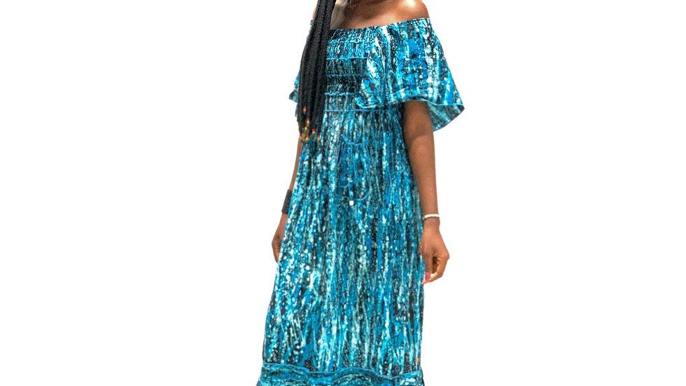 African Batik Gown