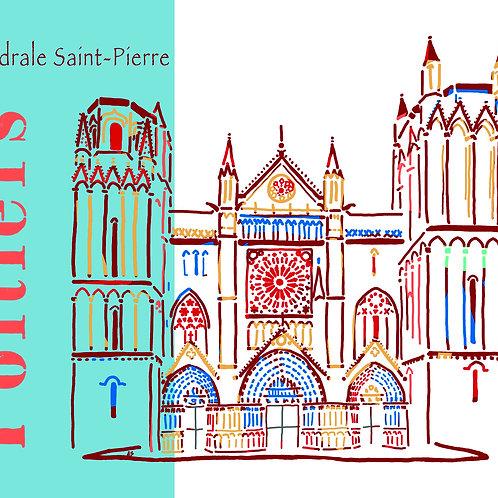 Poitiers - cathédrale face