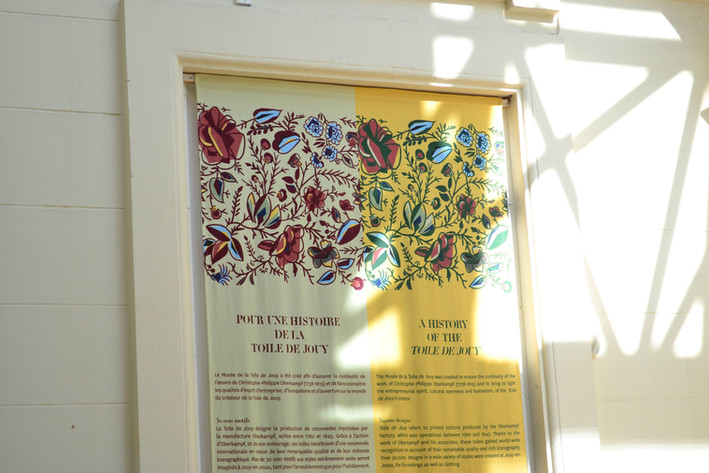 Habillage Parcours Permanent Musée Toile de Jouy