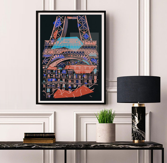Eiffel augmentée - Nuit