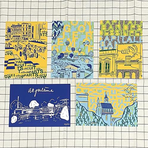 Cartes postales Angoulême Festivals