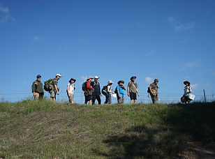 Father & Son Hiking at Squad STX Boys Camp, an Alternative to Boy Scouts