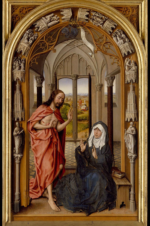 Easter Card - Resurrected Christ meets his Mother