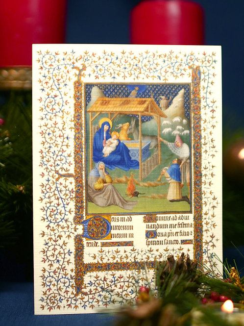 Belles Heure Christmas Card- Adoration of the Shepherds
