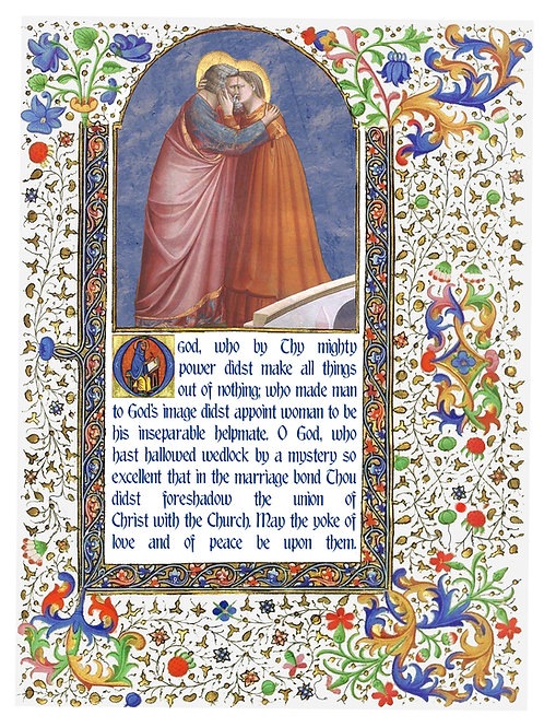 Wedding Blessing Illumination Card